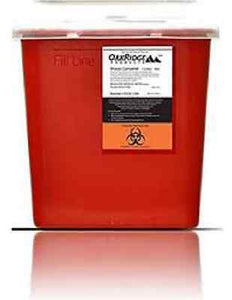 OakRidge Products Sharps and Biohazard Disposal Container, 5 Quart Size, 0354-15