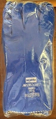 North NK803 Nitri Knit Nitrile Gloves 6/pk Size 10 XL