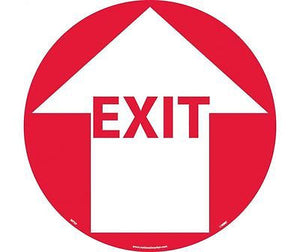 "National Marker CompanyI WFS9 Anti Skid WALK ON FLOOR SIGN, ""Exit"""