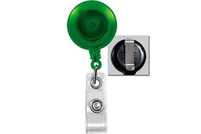 Brady People ID 2120-3604 Translucent-Badge-Reel With Belt Style Clip 5 Each