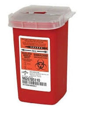 Medical Action Container For Sharps 1 Quart - Model 8702T