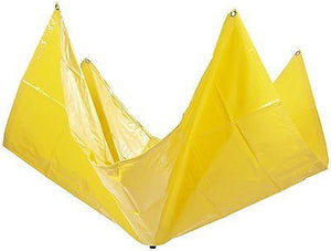 UltraTech 1785 Vinyl Coated Ultra-Roof Drip Diverter, 5' L x 5' W, Color Yellow