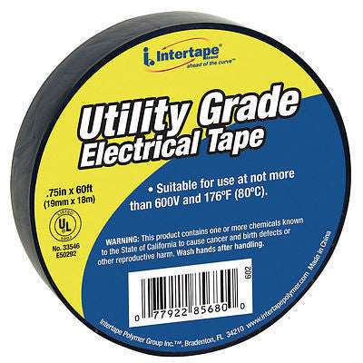 "UT-602 3/4""X60 7-MIL ELECTRICAL TAPE BLACK - 1 Each"