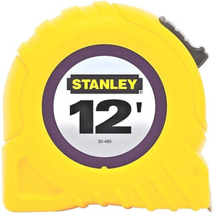 "Stanley 12' x 1/2"" Tape Rule 30-485 New Easy Readability"