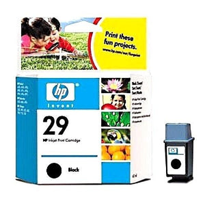 HP Original Black # 29 Inkjet 40 ml Cartidge 51629A Geniune In Box New