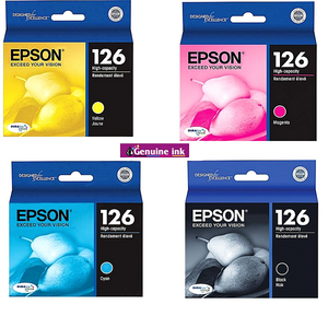 Epson 126 High Capacity Ink Cartridges 4 Pack Cyan, Yellow, Magenta, Black