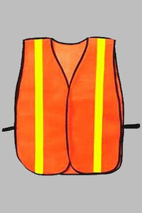 Occunomix OK-1 OK-OVS1.5 Non ANSI Orange Open Mesh Safety Vest