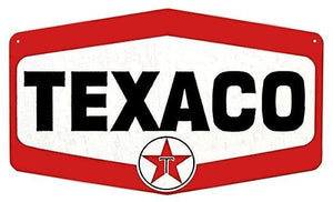 Texaco TN600 Petroleum Gasoline Round Tin Metal Sign Garage Gas and Oil Ad