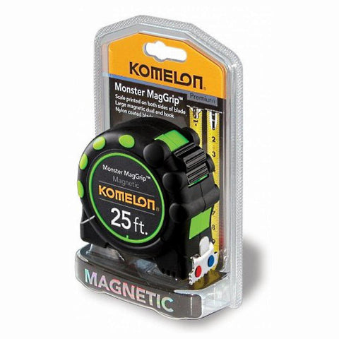 Komelon 7125 Monster MagGrip 25-Foot Measuring Tape.