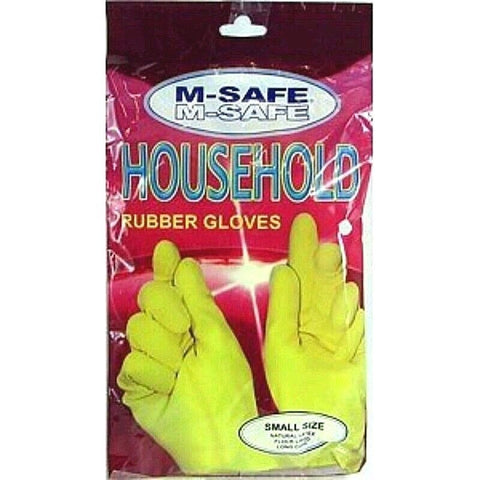 M-Safe 3351 Household Rubber Gloves 1 Pair Per Poly Pack