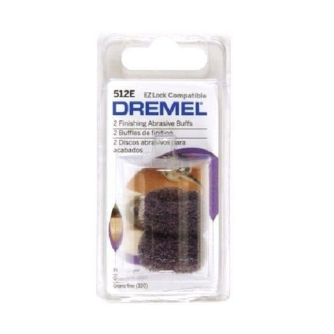 Dremel 512E EZ Lock Abrasive Buffs, 1 In D, 7/64T, PK2
