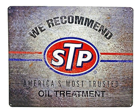 We Recommend STP Oil Treatment Metal Sign