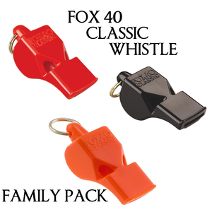 Fox 40's 9902-0008 First Pealess Whistle. Authentic. Original Black
