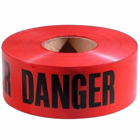 "Anchor Brand PT-200 Red Economy ""DANGER"" Barrier Tape 3"" X 1000'"
