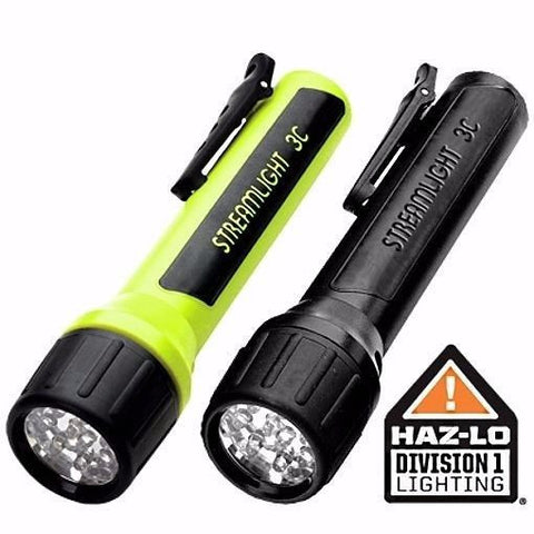 Streamlight 33212 3C LED Propolymer Flashlight With Blue LEDs, Yellow