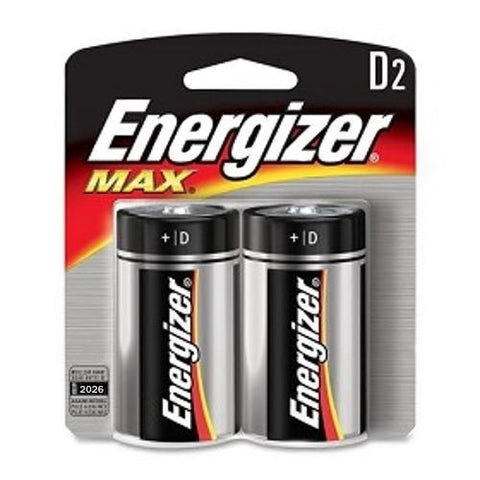 Energizer E95BP-2 Max D2 D-Cell 2 Pack