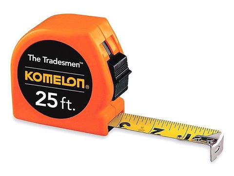 "KOMELON T3725 The Tradesmen Orange, 25 X 1"" Tape Measure"