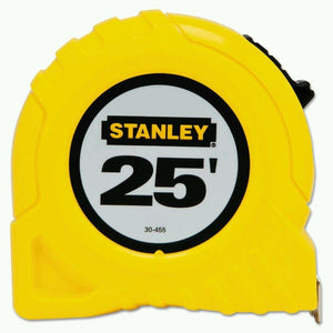 Stanley 30-455 25' Fractional Read Tape Measure New
