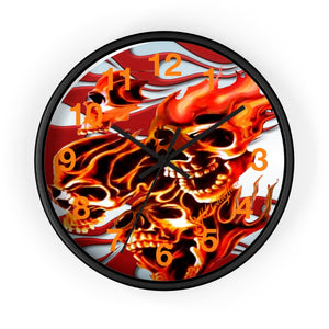 "MV Collection ""Flaming Skulls"" Wall clock"