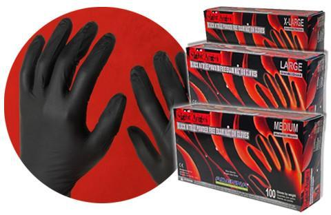 Adenna, NGL Night Angel Black Nitrile Powder Free Gloves