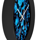 "MV Collecton ""Blue Skulls"" Wall clock"