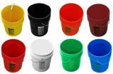 S-7914Y 5 Gallon Plastic Buckets 90 Mil Heavy Duty,FDA Grade