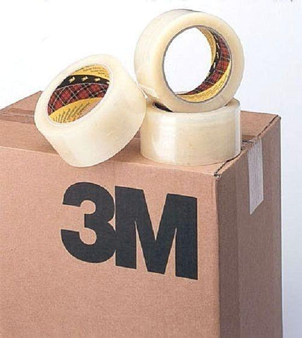 3M Scotch 371 Clear Box Sealing Tape - 6 Rolls