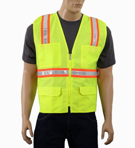2W 8148YMC-2 Hi-Vis Class 2 Level 2 Safety Vest