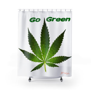 "MV Collection ""Go Green"" Shower Curtains"