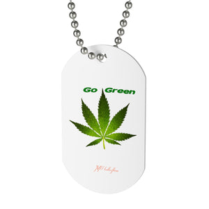 "MV Collection ""Go Green"" Dog Tag"