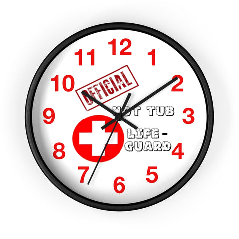 "MV Collection ""Official Hot Tub Lifeguard"" Wall clock"