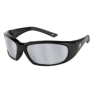 Crews FF317 ForceFlex® Next Generation - Safety Glasses Blue and White Frame, Silver Mirror Lens
