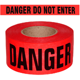 "Berry Plastics 1088294 Barricade Tape ""Danger Do Not Enter"", 3"" X 1000'  2 MIL"