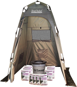 Brief Relief PQ-500 Grey Privacy Shelter