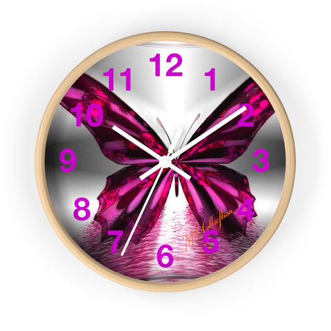 "MV Collection ""Amazing Purple Butterfly"" Wall clock"
