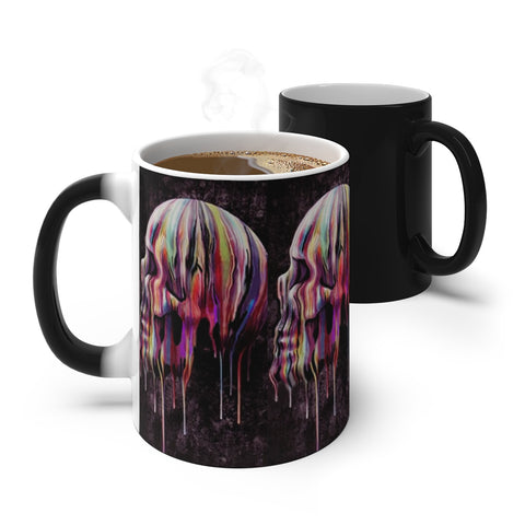 "MV Collection ""Disappearing Dripping Skulls"" Color Changing Mug"