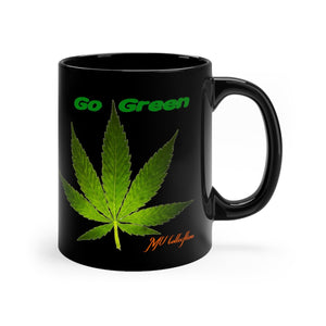 "MV Collection ""Go Green"" Black mug 11oz"