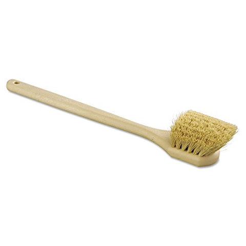 "Boardwalk 4220 Tampico Bristle Utility Brush, Plastic, 20"", Tan Handle"