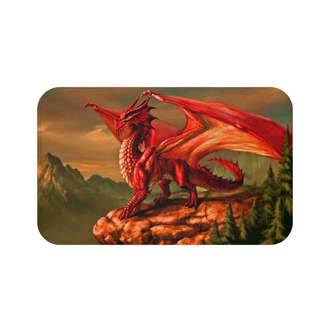 "mv collection ""Red Dragon"" Bath Mat"