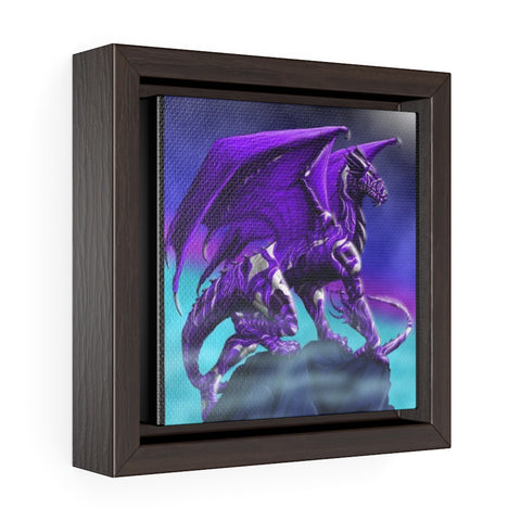 "MV Collection ""Purple Dragon"" Square Framed Premium Gallery Wrap Canvas"