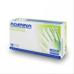 Adenna, NPF885 Nitrile Powder Free Textured Fingers, Blue Gloves