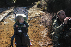 Top tips on taking your baby or toddler hunting.