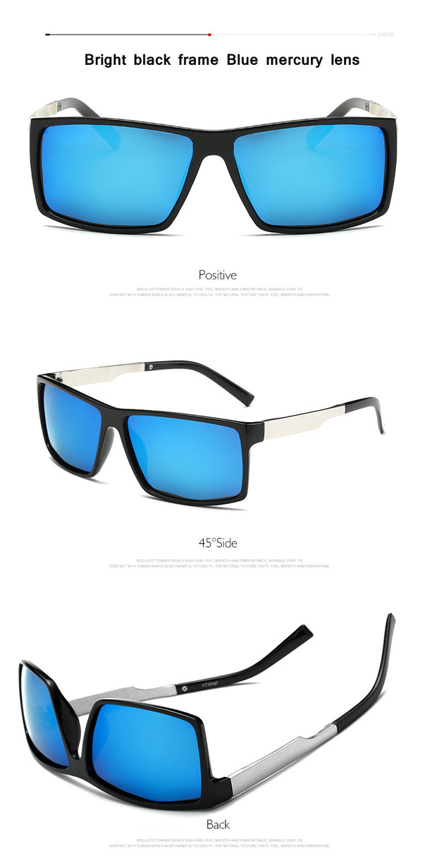 Men's Polarized Square Sunglasses