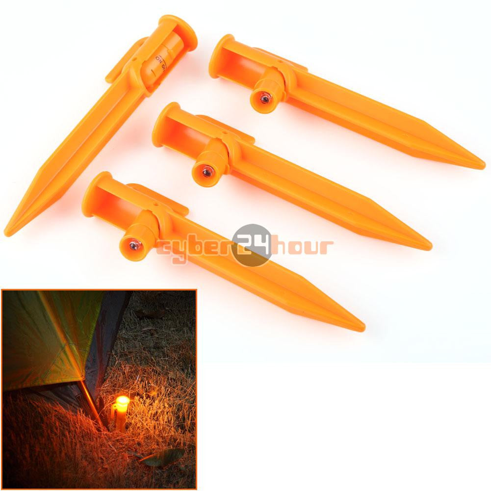 4pcs  LED Light Up Tent  Stakes