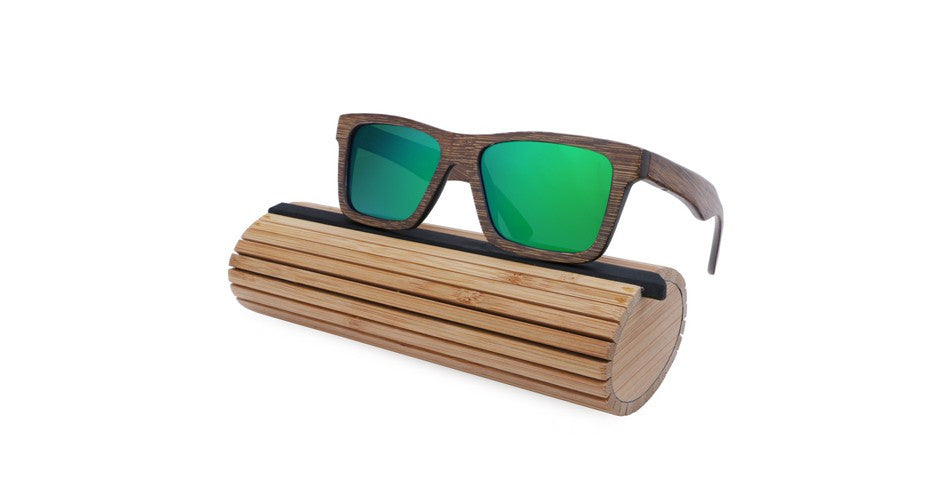 Men's Dark Bamboo Polarized Sunglasses