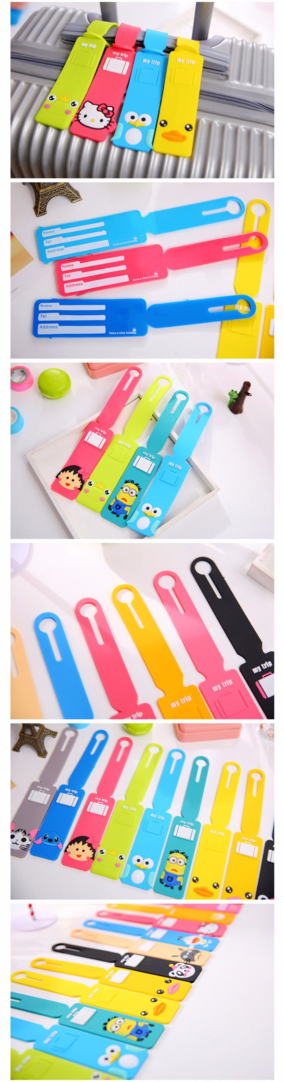 Free!! Luggage Cartoon Label Straps