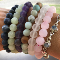 Frosted Indian Agate Healing Bracelet ~ AURIC CLEANSER