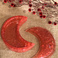 Handmade Resin ~ Crescent Moon Trinket/Blessing Box ~ Fire Fox