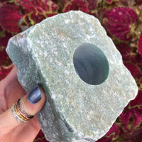 Candle Holder ~ Green Aventurine