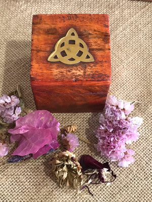 Wooden Wish Box ~ Triquetra